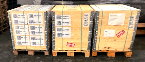 Pallets ready to be shipped
